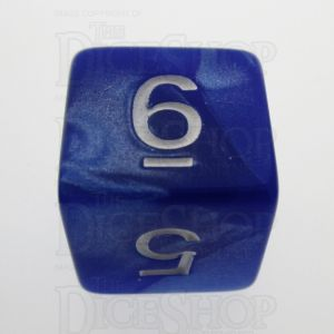 TDSO Pearl Blue & White D6 Dice