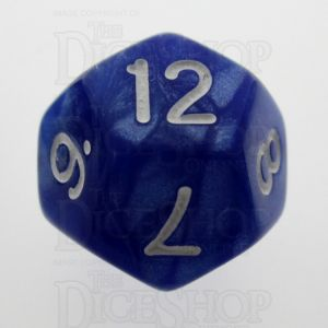 TDSO Pearl Blue & White D12 Dice