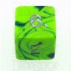 D&G Toxic Slime Green & Blue D6 Dice