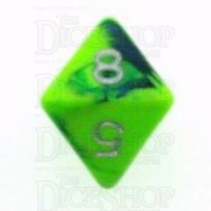 D&G Toxic Slime Green & Blue D8 Dice