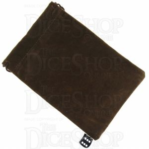 TDSO Large Earth Brown Soft Touch Dice Bag