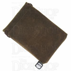TDSO Small Earth Brown Soft Touch Dice Bag