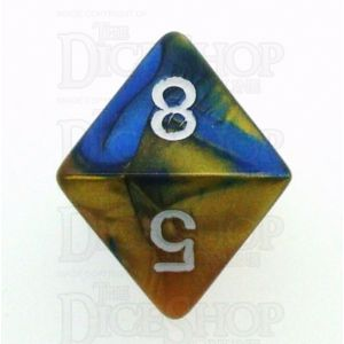 Chessex Gemini Blue & Gold D8 Dice