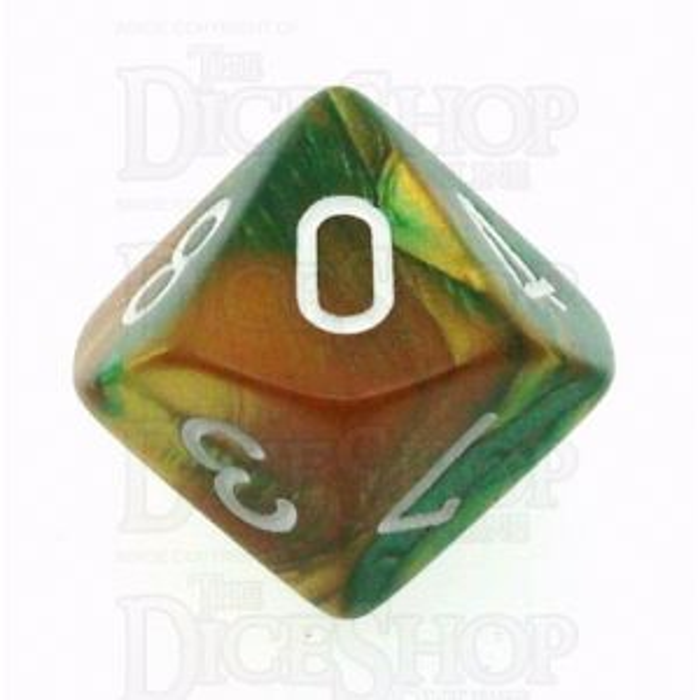 Chessex Gemini Gold & Green D10 Dice