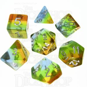 TDSO Layer Transparent Astral 7 Dice Polyset