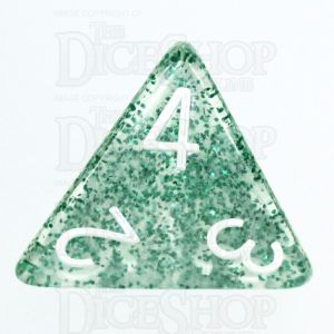 TDSO Glitter Green D4 Dice - Discontinued