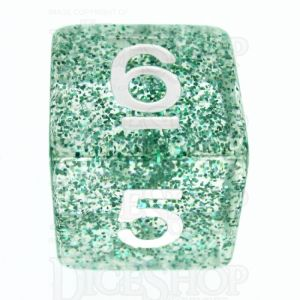 TDSO Glitter Green D6 Dice - Discontinued