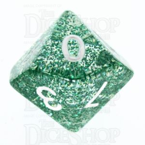 TDSO Glitter Green D10 Dice - Discontinued