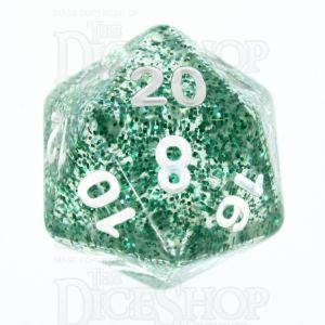TDSO Glitter Green D20 Dice - Discontinued