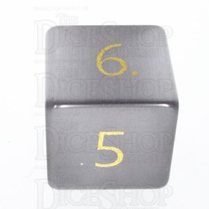 TDSO Cats Eye Grey with Engraved Numbers 16mm Precious Gem D6 Dice