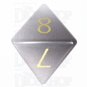 TDSO Cats Eye Grey with Engraved Numbers 16mm Precious Gem D8 Dice