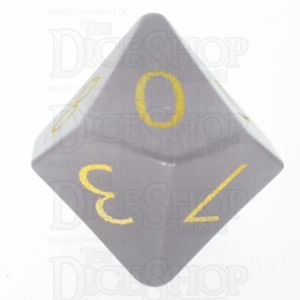 TDSO Cats Eye Grey with Engraved Numbers 16mm Precious Gem D10 Dice