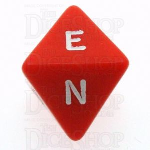 D&G Opaque Red & White Compass D8 Dice