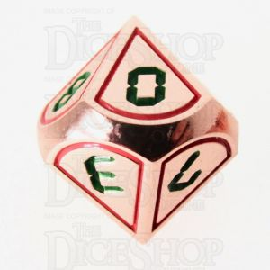 TDSO Metal Tech Copper Red & Green D10 Dice
