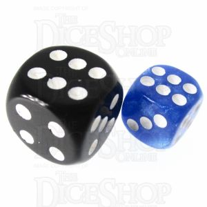 TDSO Pearl Blue & White 12mm D6 Spot Dice