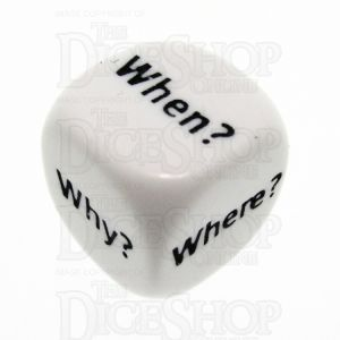 Koplow Opaque White Question D6 Dice