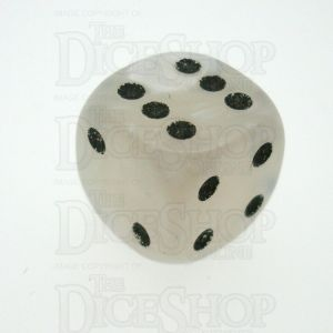 D&G Pearl White & Black 16mm D6 Spot Dice