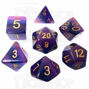 TDSO Layer Lavender Glitter 7 Dice Polyset