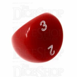 D&G Opaque Red & White D3 Dice