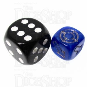 CLEARANCE D&G Pearl Blue Scatter 12mm D6 Dice