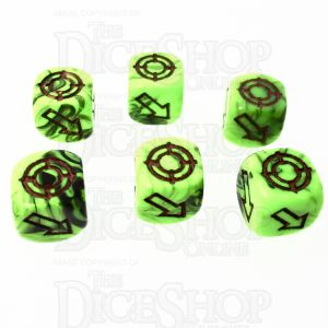 CLEARANCE D&G Marble Lime & Black Scatter 12mm 6 x