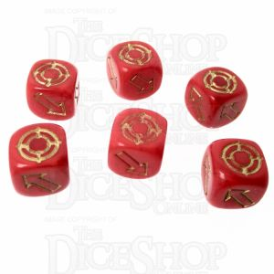 CLEARANCE D&G Pearl Red Scatter 12mm 6 x D6 Dice S