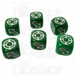 CLEARANCE D&G Opaque Green Scatter 12mm 6 x D6 Dic