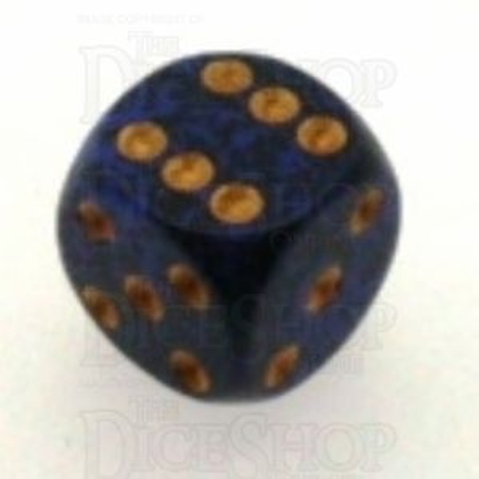 Chessex Speckled Golden Cobalt 16mm D6 Spot Dice