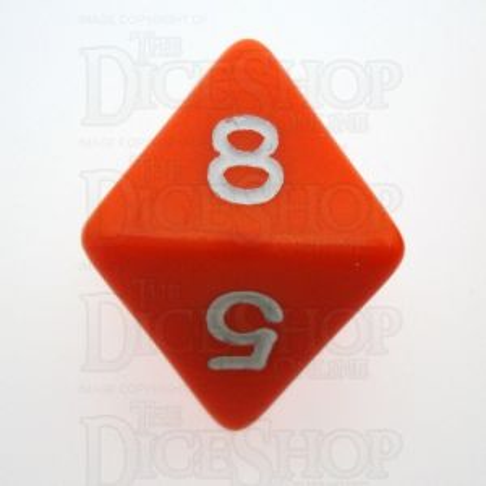D&G Opaque Orange D8 Dice