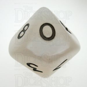 D&G Pearl White & Black D10 Dice