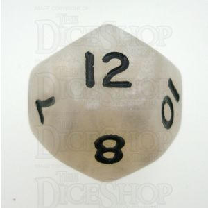 D&G Pearl White & Black D12 Dice