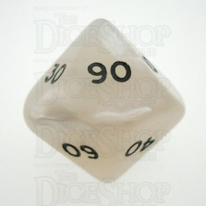 D&G Pearl White & Black Percentile Dice