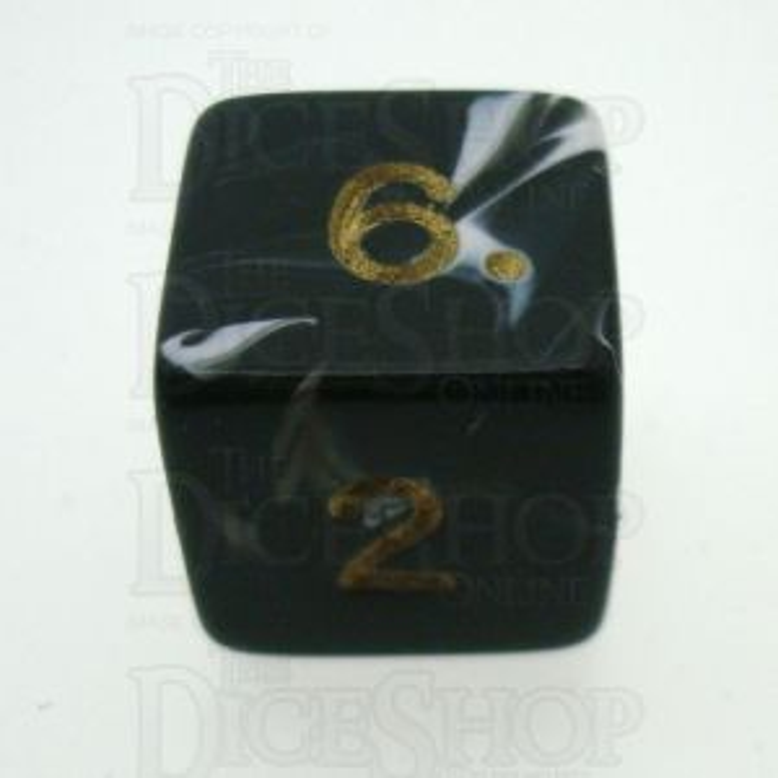 D&G Marble Black & White D6 Dice