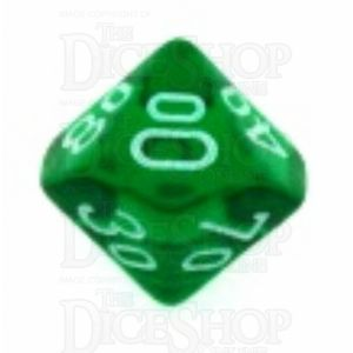 Chessex Translucent Green & White Percentile Dice