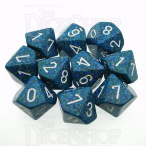 Chessex Speckled Sea 10 x D10 Dice Set