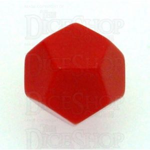 D&G Opaque Blank Red D12 Dice