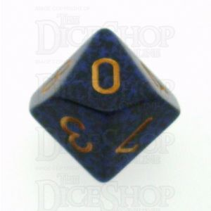 Chessex Speckled Golden Cobalt D10 Dice