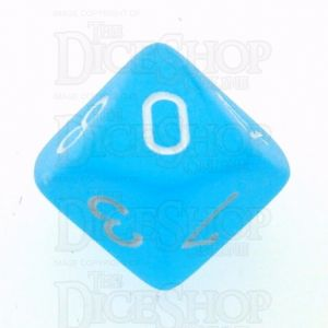 Chessex Frosted Caribbean Blue & White D10 Dice