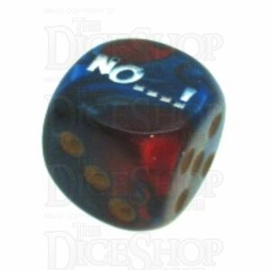 Chessex Gemini Blue & Red with Gold NO...! Logo D6 Spot Dice