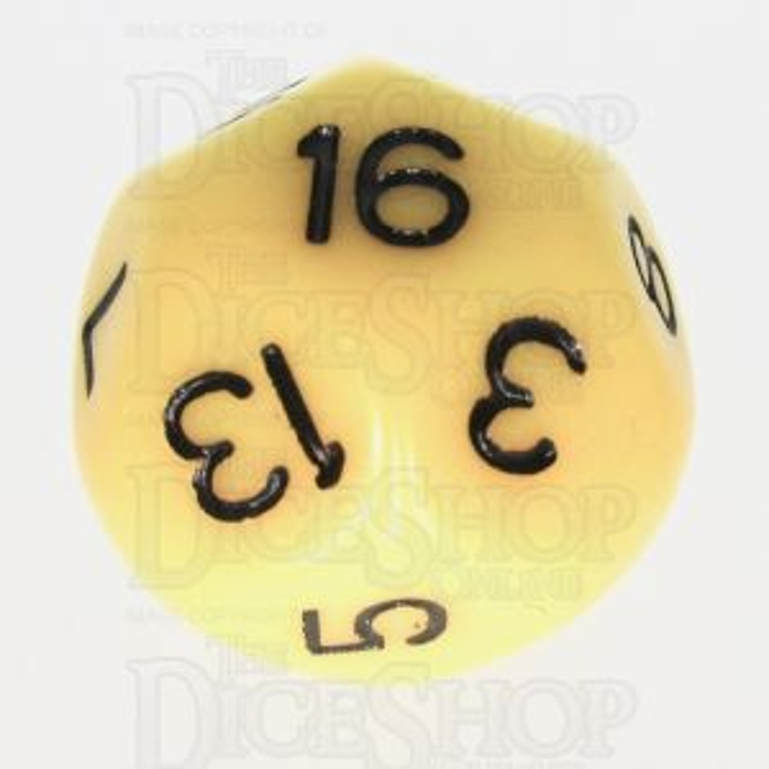 Impact Opaque Yellow & Black D16 Dice