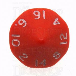 D&G Opaque Red & White D16 Dice