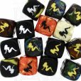 Chessex Lady Luck Logo Assorted  6 x D6 Spot Dice Set