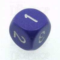 Chessex Opaque Purple & White D3 Dice