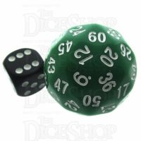 Tessellations Opaque Green & White Deltoidal 35mm D60 Dice