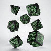 Q Workshop Cthulhu 7th Edition Black & Green 7 Dice Polyset