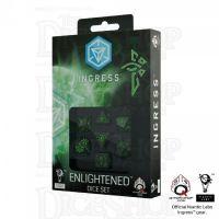 Q Workshop Ingress Enlightened Black & Green 7 Dice Polyset