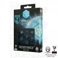 Q Workshop Ingress Resistance Black & Blue 7 Dice Polyset
