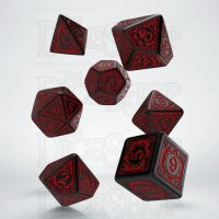 Q Workshop Pathfinder Wrath of the Righteous Black & Red 7 Dice Polyset