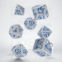 Q Workshop Pathfinder Reign of Winter White & Blue 7 Dice Polyset