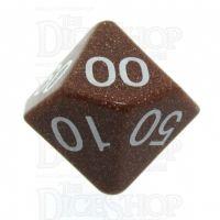 TDSO Goldstone Gold 16mm Precious Gem Percentile Dice